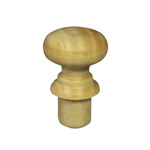 19mm Wooden Knob Handles (Pine)